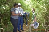 Student and the supervisor field visit to Kitui forest, Kitui County for ethinobotanical survey.
